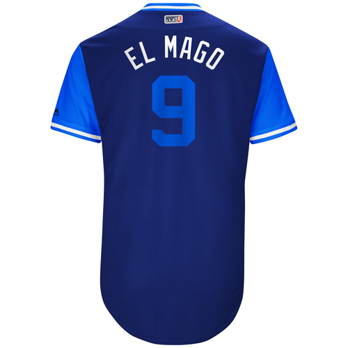 "Photo of Javier ""El Mago"" Baez Chicago Cubs Game-Used Players Weekend Jersey"