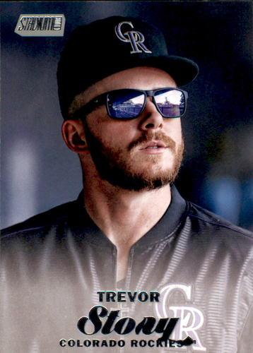 Photo of 2017 Stadium Club #279 Trevor Story -- Rockies post-season