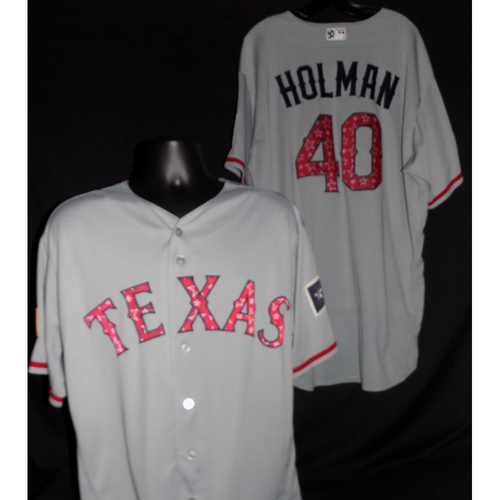 Photo of Brad Holman 2017 Game-Used Stars and Stripes Jersey