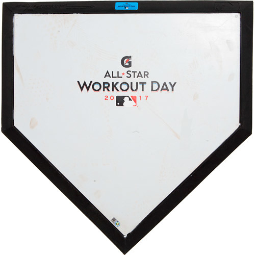 Photo of 2017 ASG Workout Day: Game-Used Commemorative Home Plate, Used during National League Batting Practice