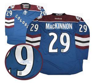 Nathan MacKinnon - Signed Colorado Avalanche Jersey - Blue 3rd Alternate