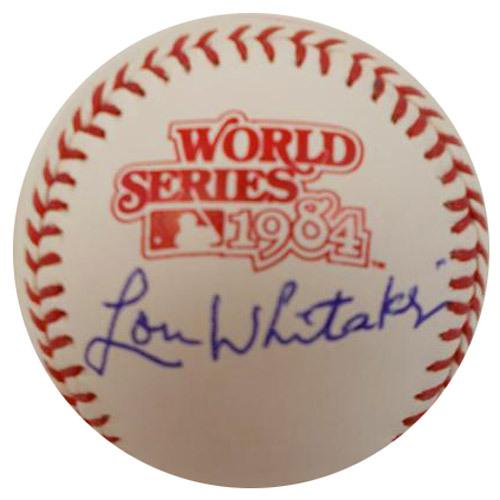 Photo of Detroit Tigers Lou Whitaker Autographed 1984 World Series Baseball