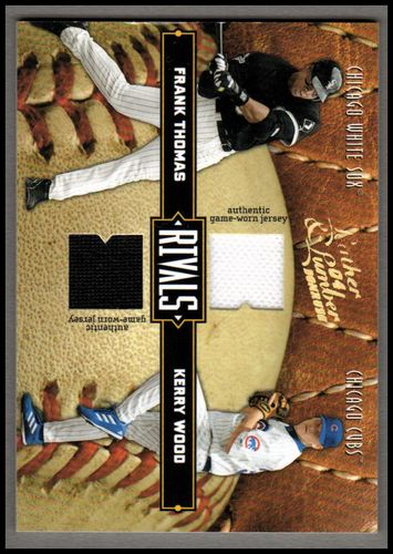 Photo of 2004 Leather and Lumber Rivals Materials #7 Kerry Wood Jsy/Frank Thomas Jsy/250