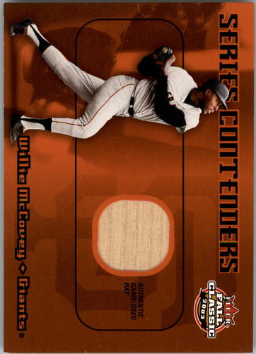 Photo of 2003 Fleer Fall Classics Series Contenders Bat #WM Willie McCovey SP