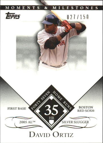 Photo of 2007 Topps Moments and Milestones #104-35 David Ortiz/HR 35