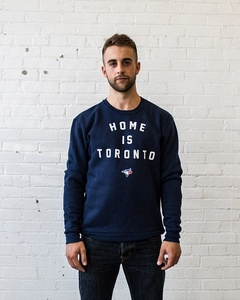 Toronto Blue Jays Unisex Home Is Toronto Crewneck Navy by Peace Collective