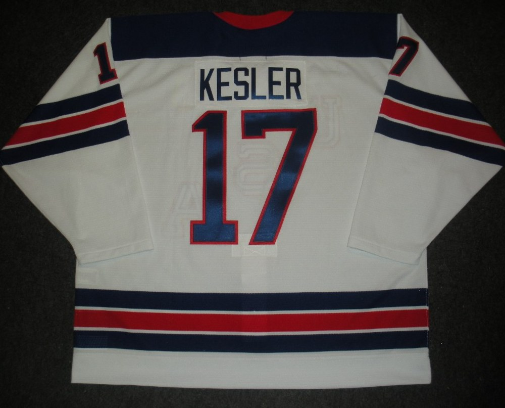 Ryan Kesler - Sochi 2014 - Winter Olympic Games - Team USA Throwback Game-Worn Jersey - Worn in 2nd and 3rd Periods vs. Slovenia, 2/16/14