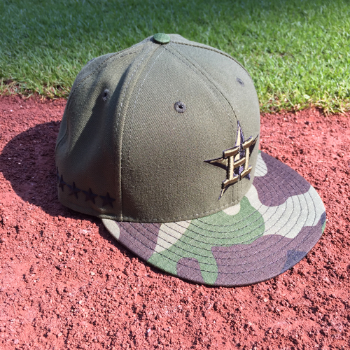 Photo of Game-Used Jose Altuve Memorial Day Weekend Cap