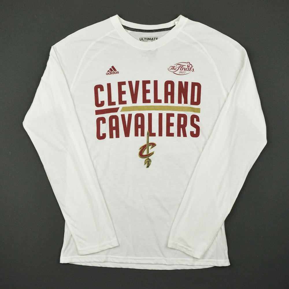 Channing Frye - White NBA Finals Shooting Shirt - Game-Issued (GI)