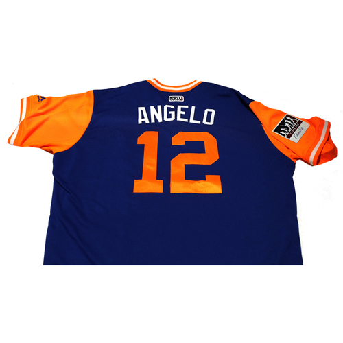 """Photo of Juan """"Angelo"""" Lagares New York Mets Game-Used Players Weekend Jersey"""