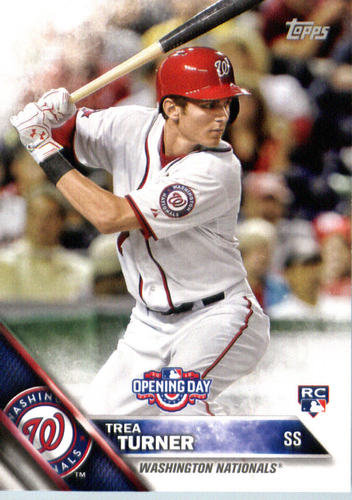 Photo of 2016 Topps Opening Day #OD154 Trea Turner Rookie Card -- Nationals post-season