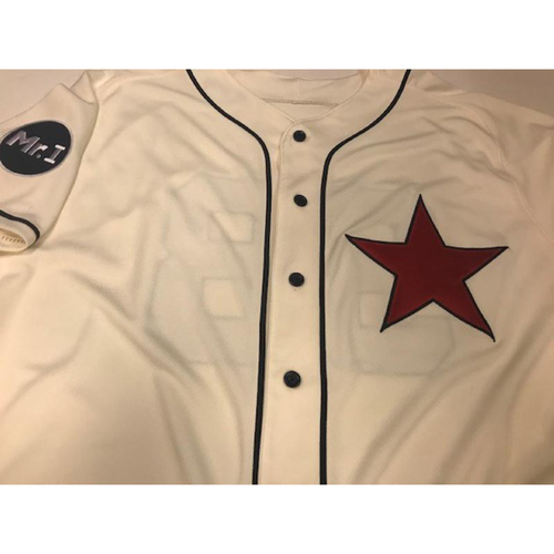 Photo of Game-Used Daniel Stumpf Detroit Stars Jersey