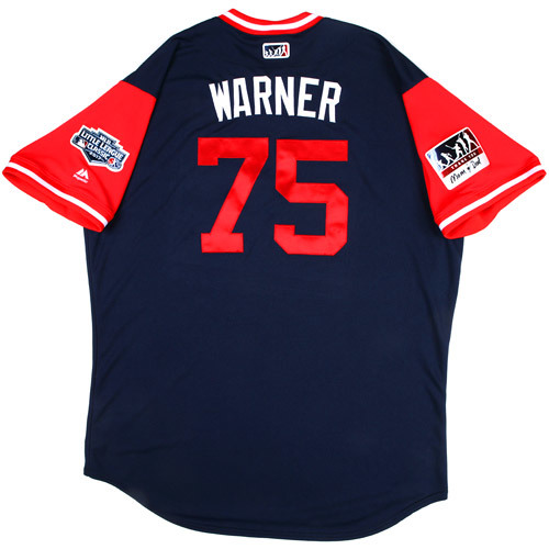 "Photo of St. Louis Cardinals Team-Issued Little League Classic Jersey -  Chad ""Warner"" Warner #75"