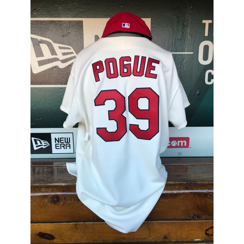 Photo of Cardinals Authentics: Jamie Pogue Game Worn 1967 Jersey and Cap