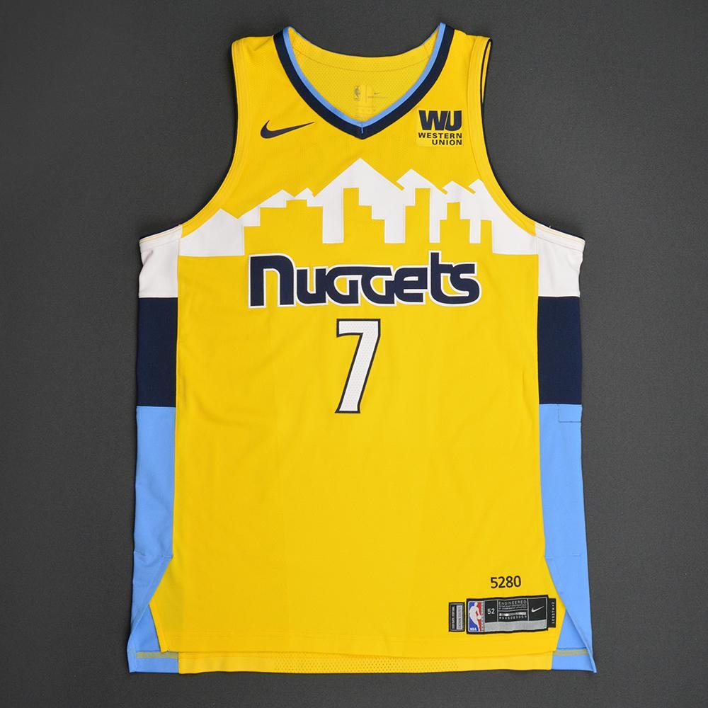 Trey Lyles - Denver Nuggets - Statement Game-Worn Jersey  - Double-Double - 2017-18 Season