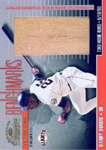 Photo of 2001 Donruss Classics Benchmarks #BM4 Barry Bonds