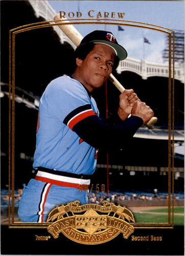 Photo of 2005 UD Past Time Pennants Gold #72 Rod Carew 30/50
