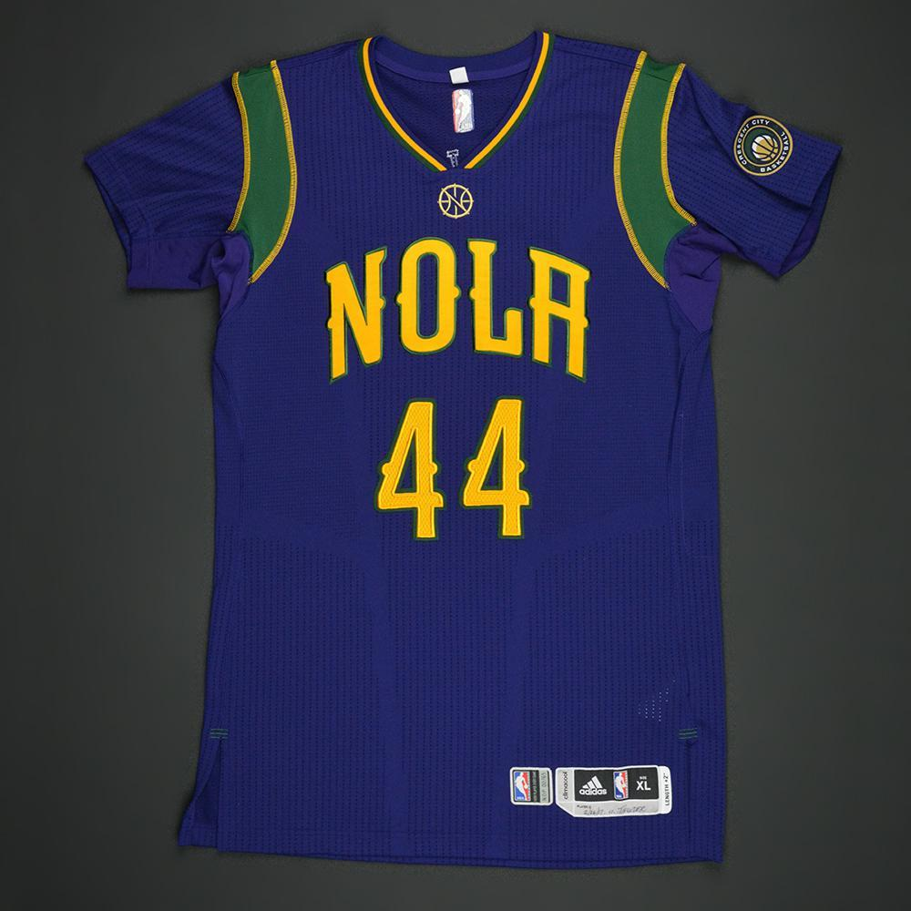 Solomon Hill - New Orleans Pelicans - Purple 'Mardi Gras' Game-Worn Jersey - 2016-17 Season
