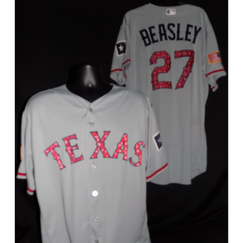 Photo of Tony Beasley 2017 Game-Used Stars and Stripes Jersey