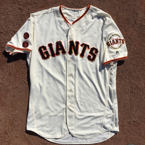Photo of San Francisco Giants - Game-Used Jersey - 2016 Home Jersey