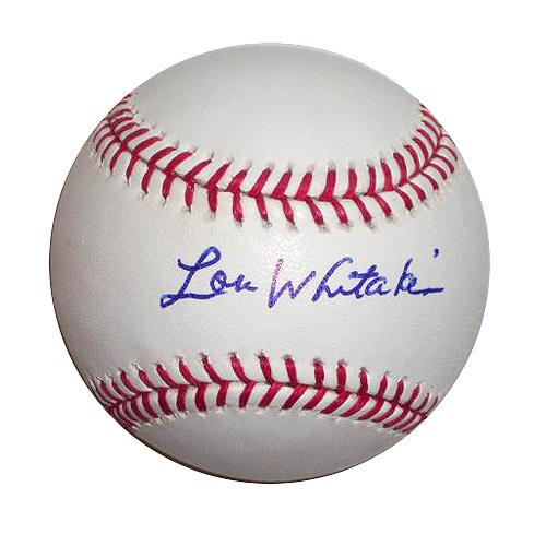 Photo of Detroit Tigers Lou Whitaker Autographed Baseball