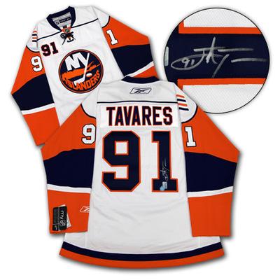 JOHN TAVARES New York Islanders SIGNED RBK Premier Rookie Jersey