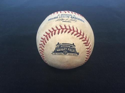 Photo of Game-Used Baseball from Pirates vs. Cubs on 6/22/2014