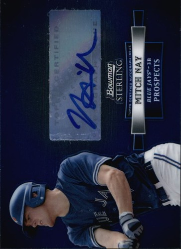 Photo of 2012 Bowman Sterling Prospect Autographs #MN Mitch Nay