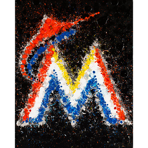 UMPS CARE AUCTION: Canvas Artwork of MLB Logo of Your Choice by Timothy Raines