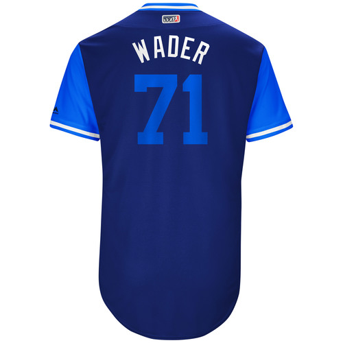 "Photo of Wade ""Wader"" Davis Chicago Cubs Game-Used Players Weekend Jersey"