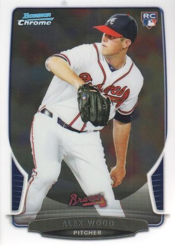 Photo of 2013 Bowman Chrome #14 Alex Wood Rookie Card -- Dodgers post-season