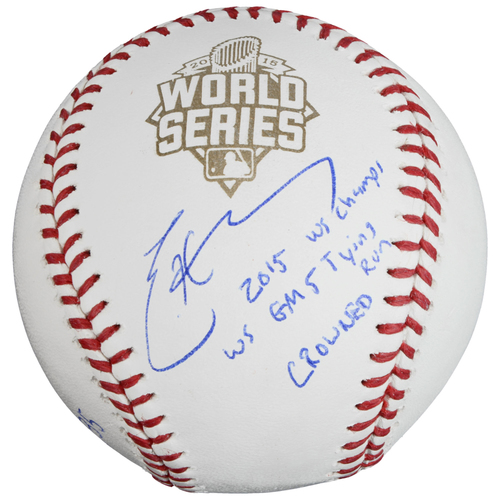 Photo of Eric Hosmer Kansas City Royals 2015 MLB World Series Champions Autographed 2015 World Series Baseball with Multiple Inscriptions - #35 in a Limited Edition of 35