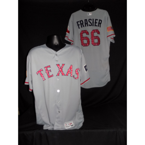 Photo of Josh Frasier 2017 Game-Used Stars and Stripes Jersey