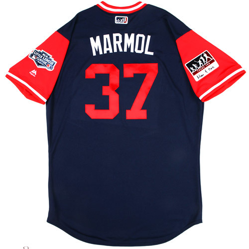 "Photo of St. Louis Cardinals Game-Used Little League Classic Jersey -  Ollie ""Marmol"" Marmol #37"