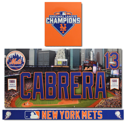 Photo of Asdrubal Cabrera #13 - Game Used Locker Nameplate Set - 2016 Season
