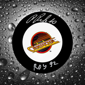 Pavel Bure Vancouver Canucks 1992 ROY Autographed Puck