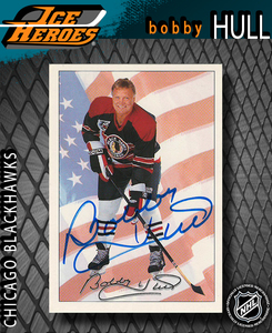 BOBBY HULL Signed Chicago Blackhawks Ultimate Trading Card Company Hockey Card