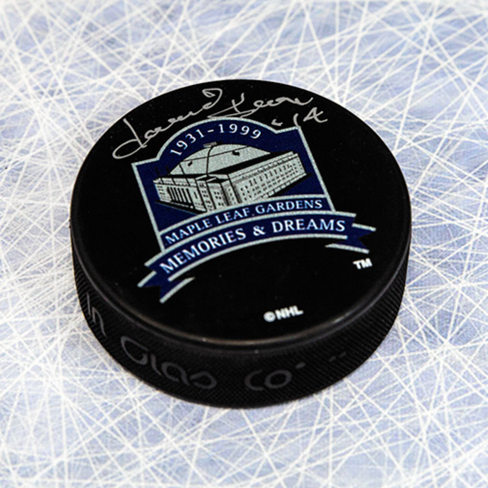 Dave Keon Toronto Maple Leafs Autographed MLG Memories & Dreams Puck