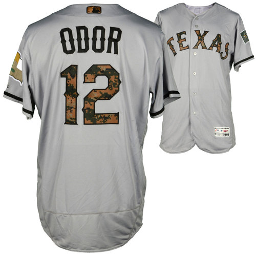 Photo of Rougned Odor Texas Rangers Game-Used Memorial Day Jersey vs Cleveland Indians on May 30, 2016