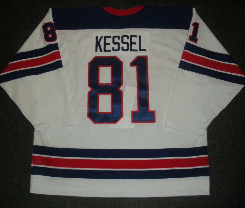 Phil Kessel - Sochi 2014 - Winter Olympic Games - Team USA Throwback Game-Worn Jersey - Worn in 2nd and 3rd Periods vs. Slovenia, 2/16/14