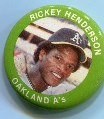Photo of 1984 Fun Foods Pins #17 Rickey Henderson