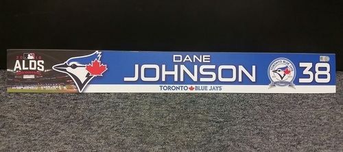 Photo of Authenticated Game Used 2016 ALDS Game 3 Locker Tag - #38 Dane Johnson