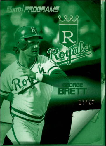 Photo of 2017 Topps Bunt Programs Green #PRGB George Brett