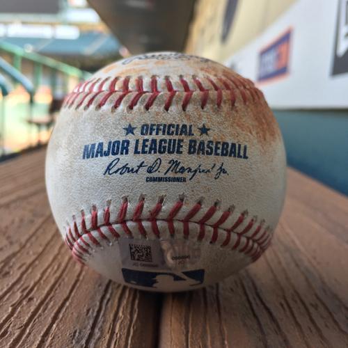 Photo of Game-Used Baseball: Luke Gregerson to Manny Machado (Double) on 5/27/17