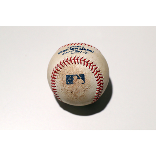 Photo of Tigers Hurricane Relief Auction: Game-Used Baseball - Travis Shaw Foul Back to Screen