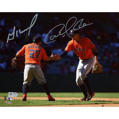 "Photo of Carlos Correa and Jose Altuve Autographed 8"" x 10"" Celebration Photograph"
