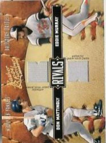 Photo of 2004 Leather and Lumber Rivals Materials #32 Don Mattingly Pants/Eddie Murray Jsy/250