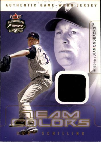 Photo of 2003 Fleer Focus JE Team Colors Game Jersey #CS Curt Schilling