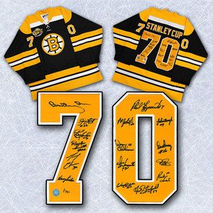 1970 Boston Bruins Team Signed Stanley Cup Jersey Le #/70 - 16 Autos *Bobby Orr, Phil Esposito, Johnny Bucyk, etc*