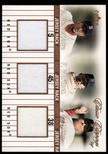Photo of 2004 Classic Clippings Jersey Rack Triple Bronze #GMS Nomar Garciaparra/Pedro Martinez/Curt Schillin